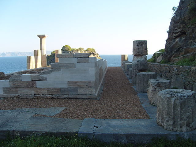 Tempio di Atena, sito archeologico di Karthea, Kea – Foto Wikimedia Commons