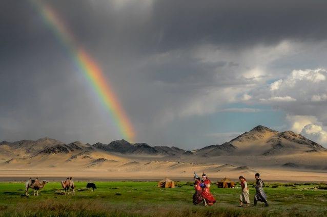 Fantastico paesaggio in Mongolia. Foto di Bernd Thaller