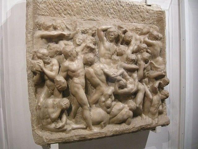 Michelangelo, Battaglia dei Centauri (1492 ca.) – Wikimedia Commons