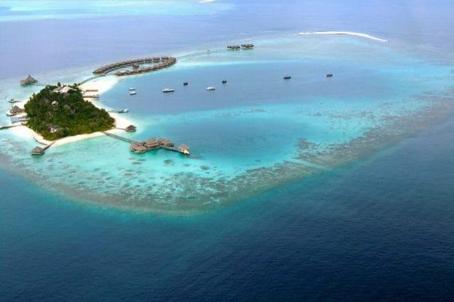 Veduta aerea delle Maldive – Foto di Sarah_Ackerman