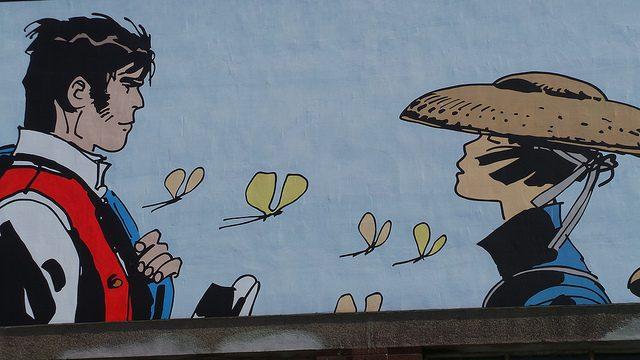 Murales nel centro di Bruxelles. Foto da Flickr