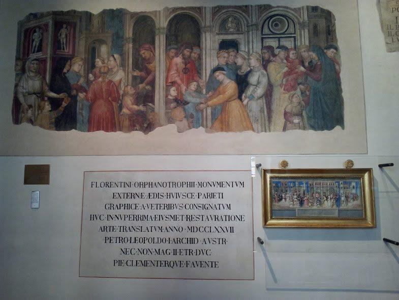Niccolò Gerini e Antonio di Baldese, I capitani della Misericordia affidano gli orfani alle madri adottive (1386)