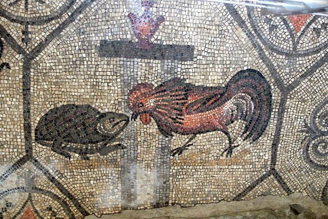 Mosaico pavimentale nella Basilica di Aquileia – Foto Wikimedia Commons