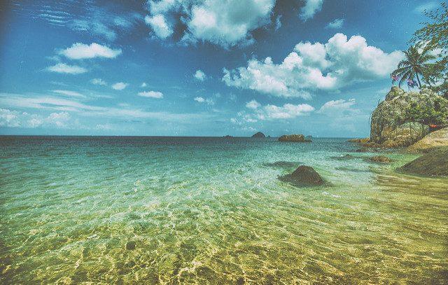 Sandy coral bay