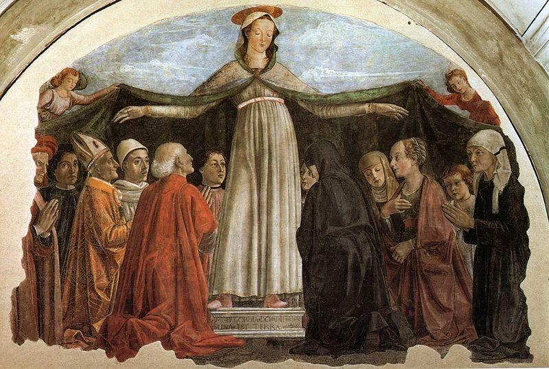 Domenico Ghirlandaio, Madonna della Misericordia – Foto Wikimedia Commons