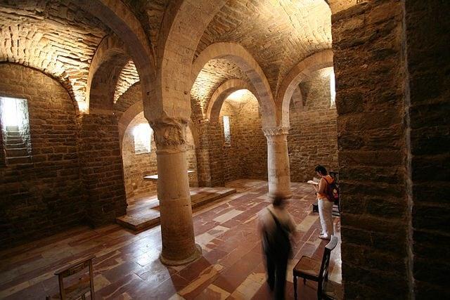 Cripta della chiesa di San Silvestro – Foto Wikimedia Commons