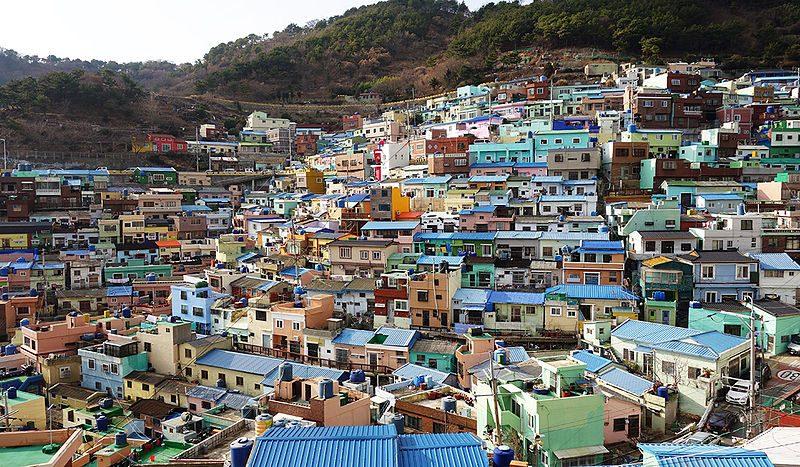Gamcheon Cultural Village. Foto di Ken Eckert