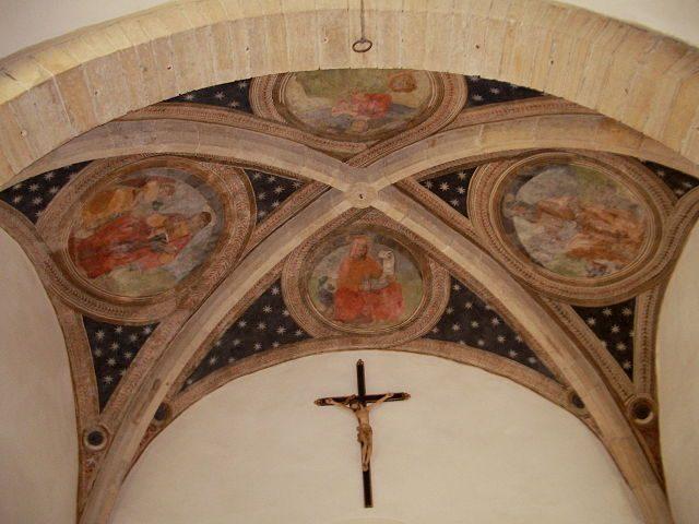 Affreschi della volta del presbiterio della Chiesa di San Nicola – Foto Wikimedia Commons
