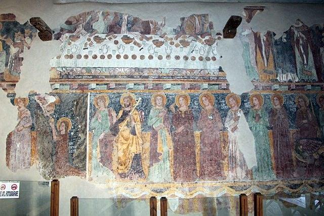 Scuola del Maestro di Soriguerola, affreschi nella Chiesa di Nostra Signora di Regnos Altos – Foto Wikimedia Commons