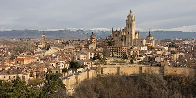Panorama di Segovia, Spagna