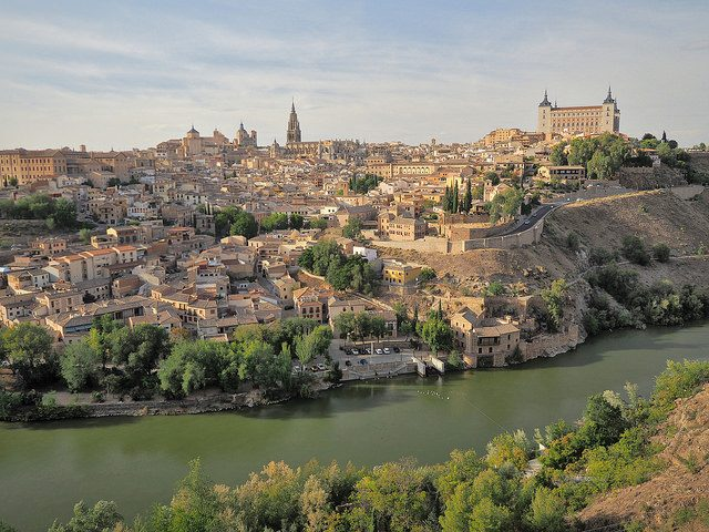 panorama di Toledo, Spagna