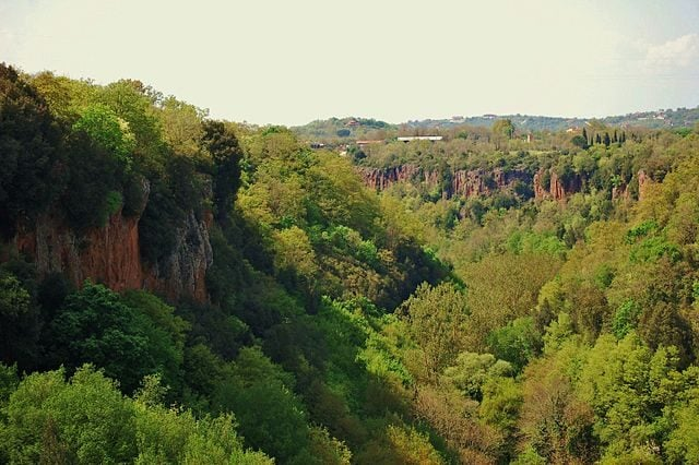Valloni all'interno del Parco regionale Marturanum – Foto Wikimedia Commons