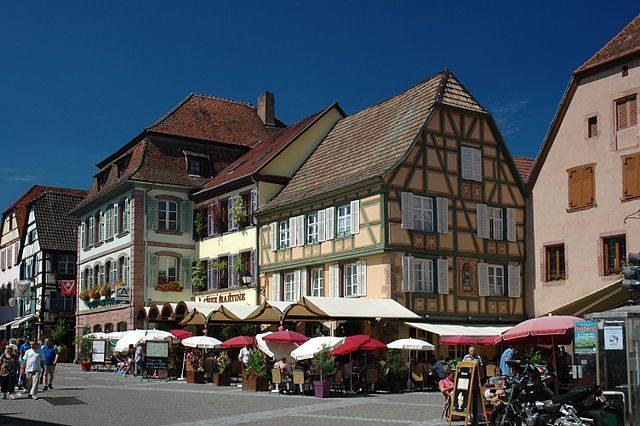 Centro di Ribeauvillé – Foto Wikimedia Commons
