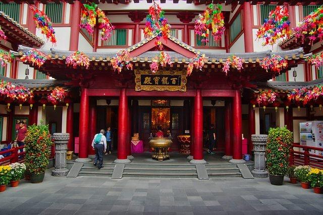 Tempio di Buddha, Chinatown Singapore.