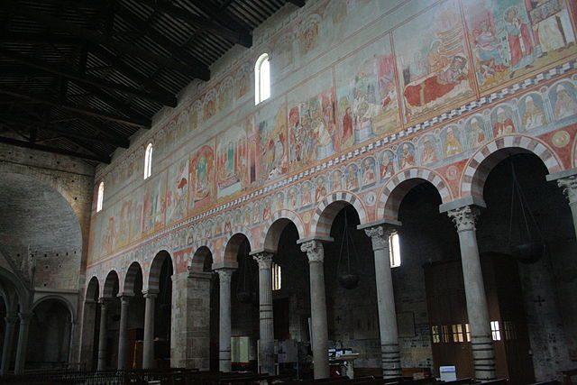 Affreschi nella Basilica di San Piero a Grado – Foto Wikimedia Commons
