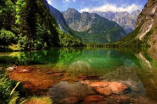Königssee, il lago verde smeraldo in Baviera