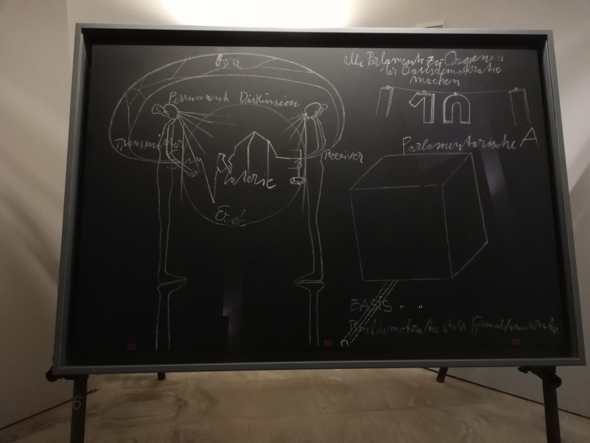 Joseph Beuys, VI – sesta lavagna