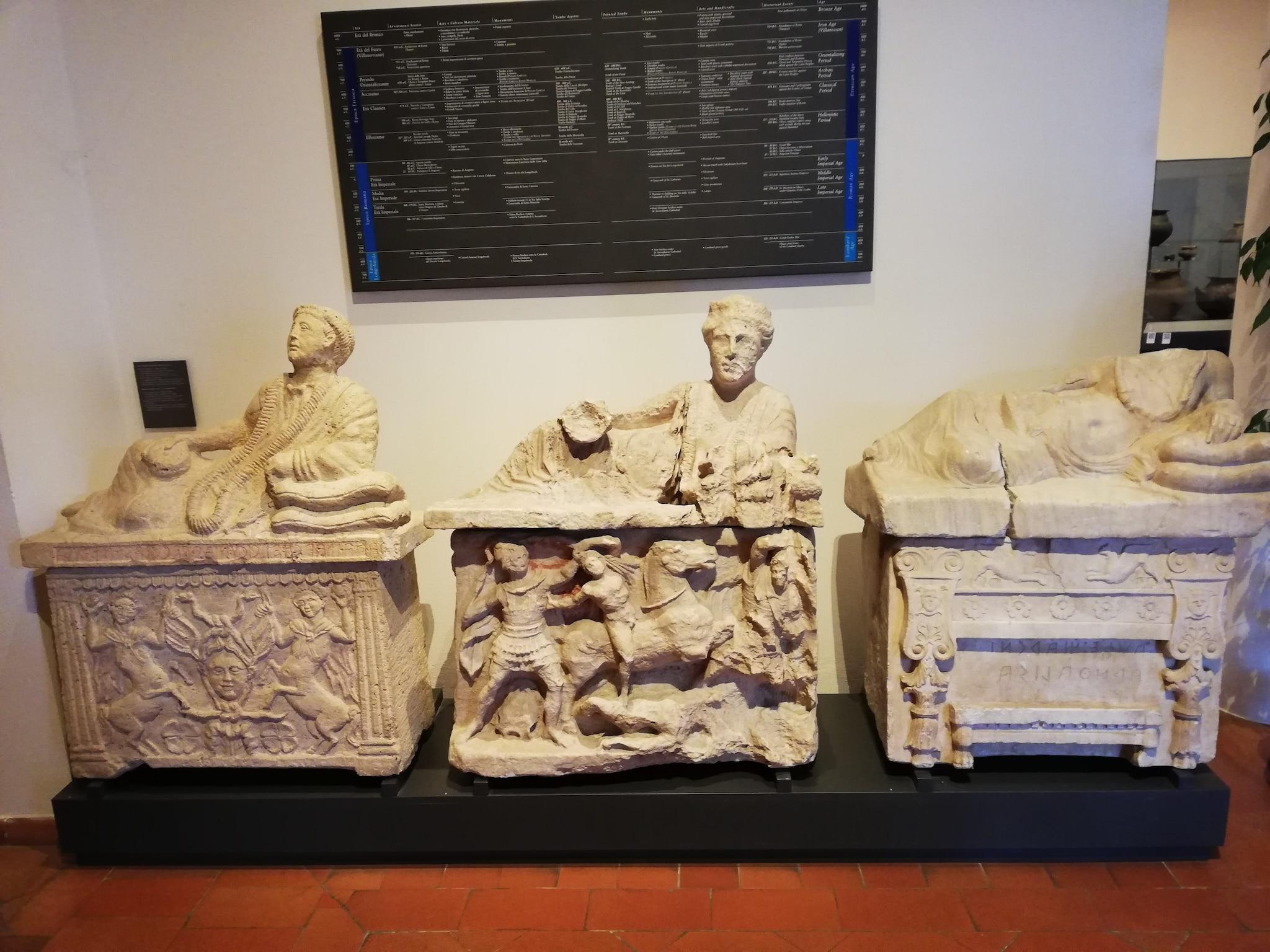 Sarcofagi al Museo Nazionale Etrusco di Chiusi