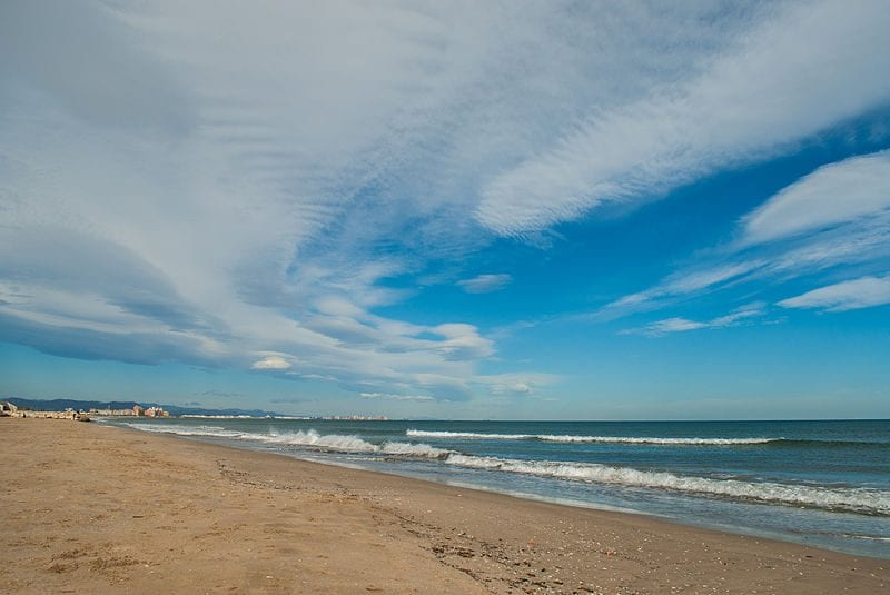 Malvarrosa Beach di Valencia