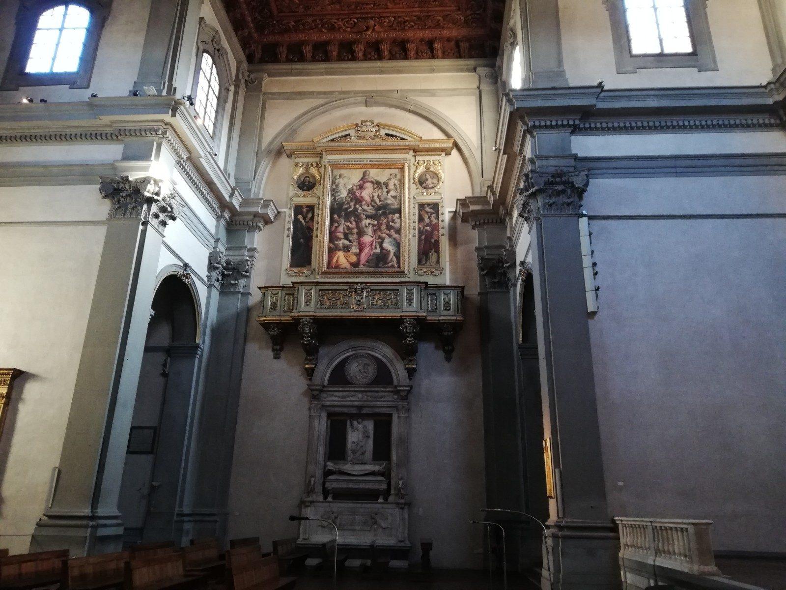 Sopra: Giorgio Vasari, Assunzione della Vergine; Sotto: Mino da Fiesole, Monumento funebre di Ugo di Toscana