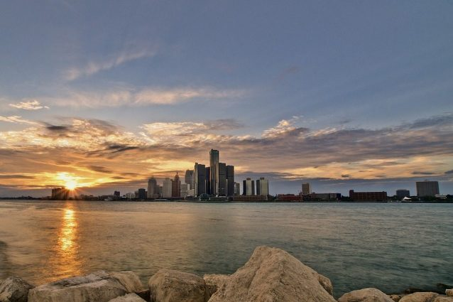 Skyline di Detroit