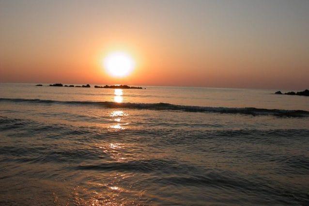 Mare di Martinsicuro al tramonto