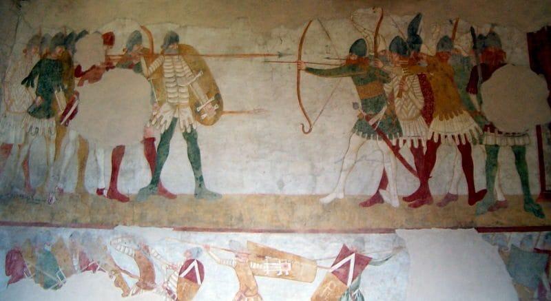 affreschi nel castello di Avio