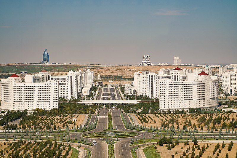 Vista su Ashgabat