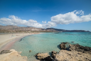 La spiaggia rosa di Elafonissi a Creta