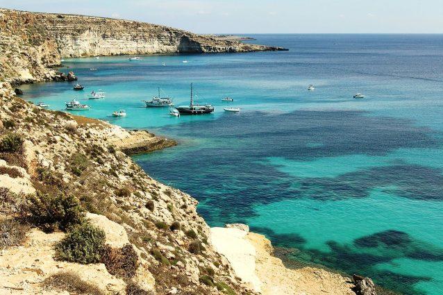 isole Pelagie, la costa di Lampedusa