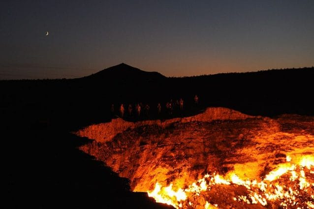 La porta dell'Inferno in Turkmenistan