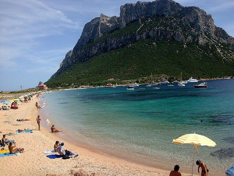 Spiaggia dell'isola di Tavolara
