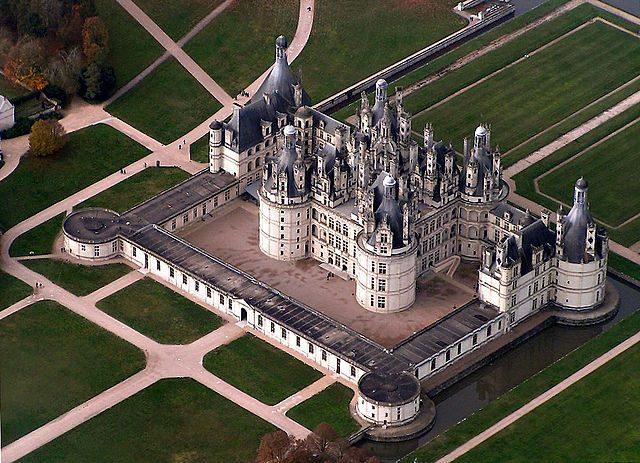 Veduta aerea del Castello di Chambord – Foto Wikipedia