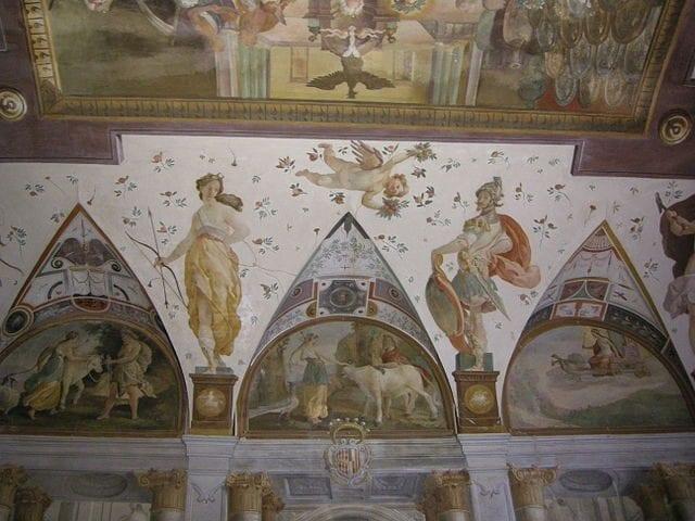 Affreschi di Andrea Boscoli nel salone – Foto Wikimedia Commons