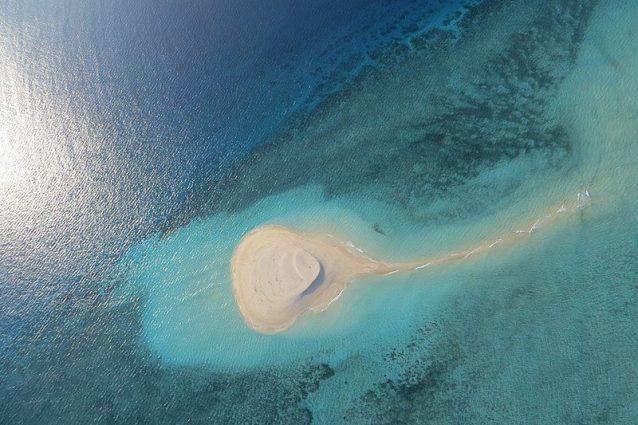 Vista della isoletta di sabbia bianca di Mayotte