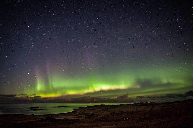 aurora boreale nelle isole shetland