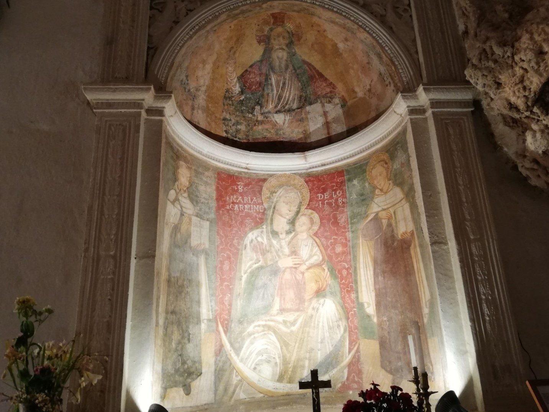 Madonna del Carmine tra i Santi Angelo e Alberto (XVI secolo)