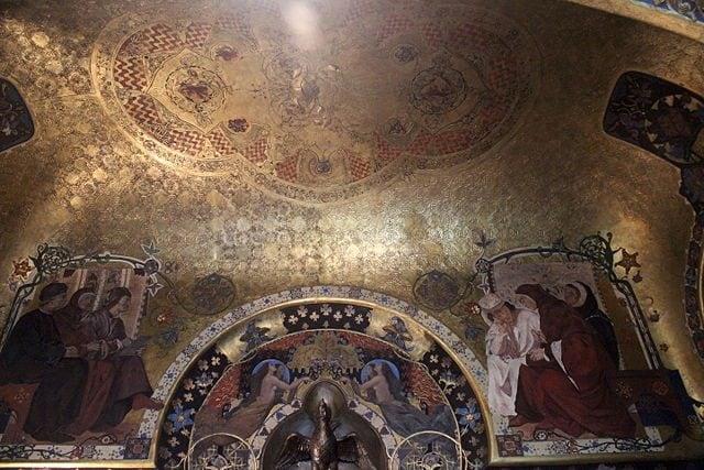 Dettaglio dello Studiolo Dantesco – Foto Wikimedia Commons