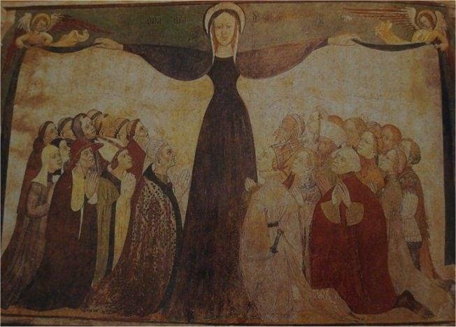 Affresco con la Madonna della Misericordia – Foto Wikipedia