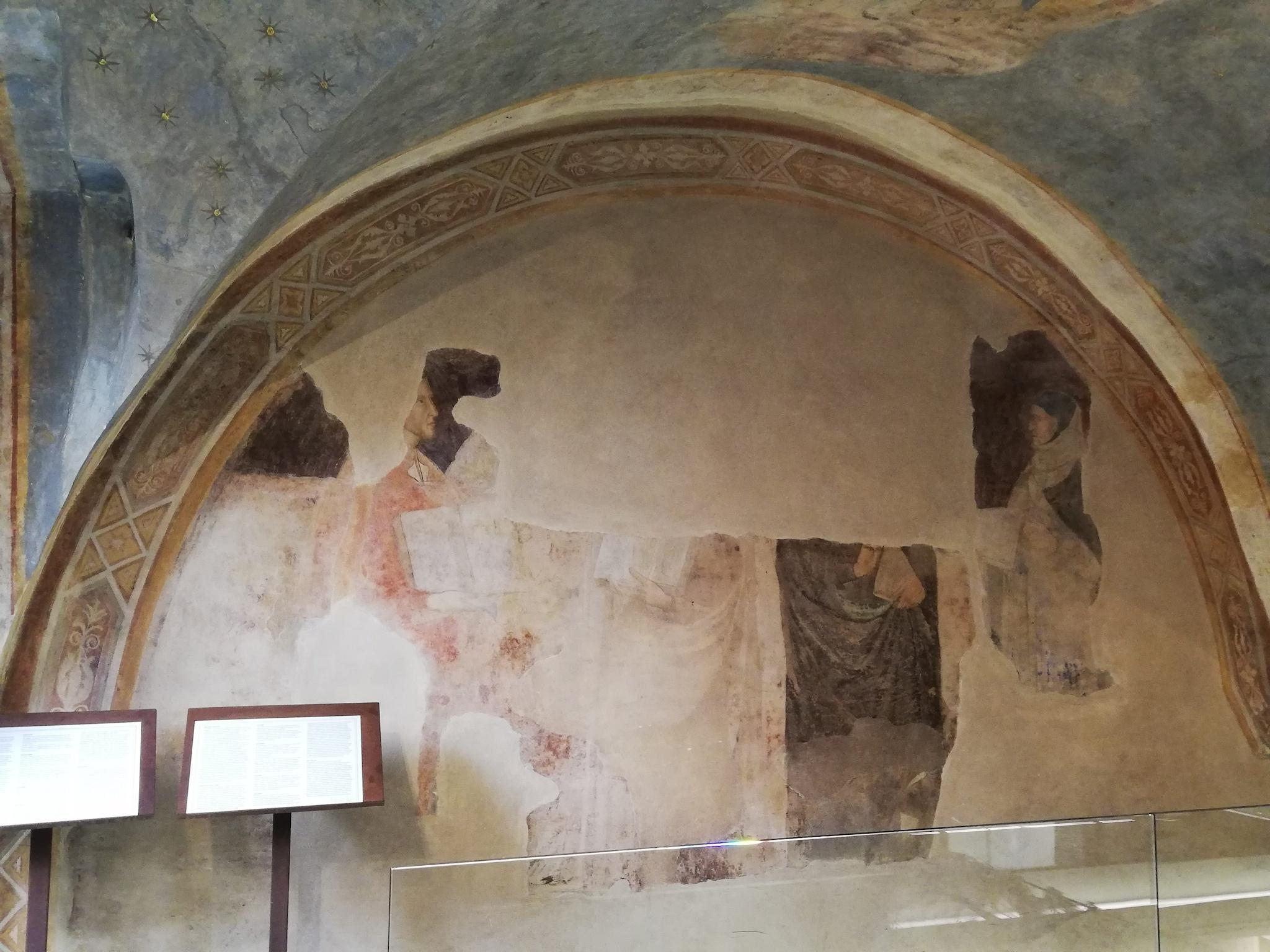 La lunetta con i ritratti di Dante e Boccaccio
