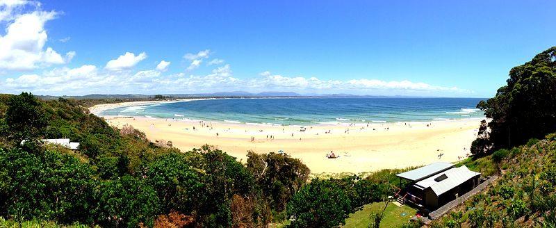 spiaggia di Bryon Bay
