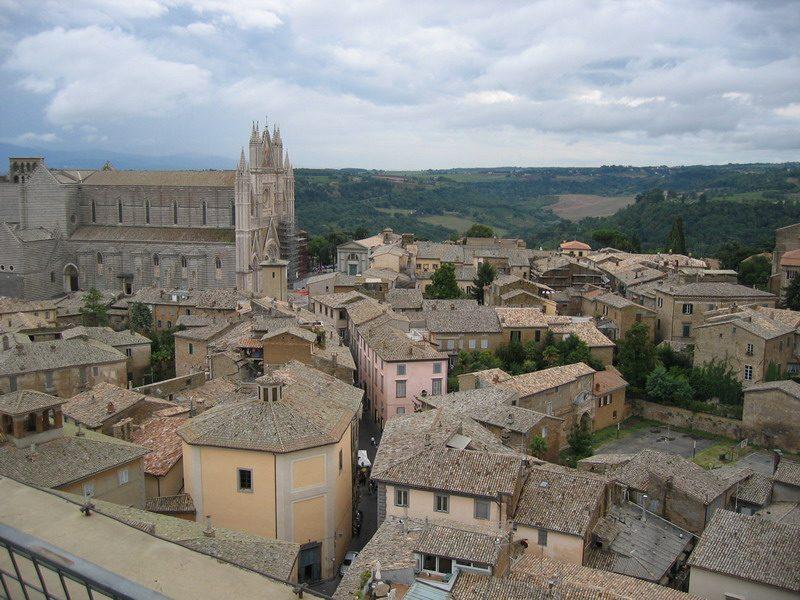 Vista sulla città di Orvieto