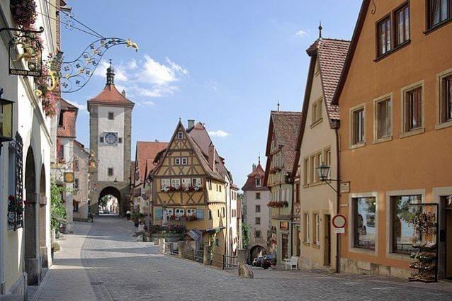 Rotheburg ob der Tauber, Plönlein – Foto Wikimedia Commons