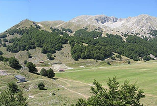 Veduta panoramica del pianoro di Campitello Matese