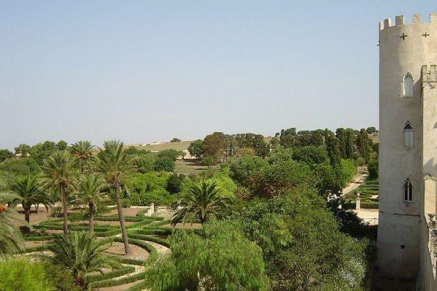 Vista del parco dal castello di Donnafugata