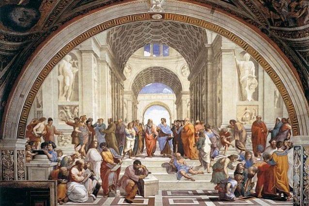 Raffaello, Scuola di Atene, Musei Vaticani – Foto Wikipedia