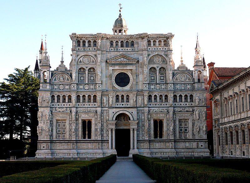 facciata della certosa di Pavia