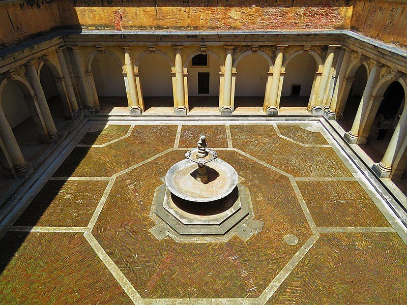 Chiostro della Foresteria nella Certosa di San Lorenzo a Padula