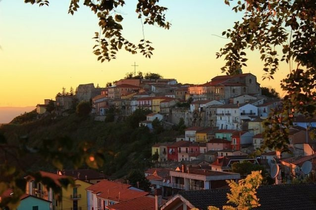 Panorama del borgo di Savignano Irpino