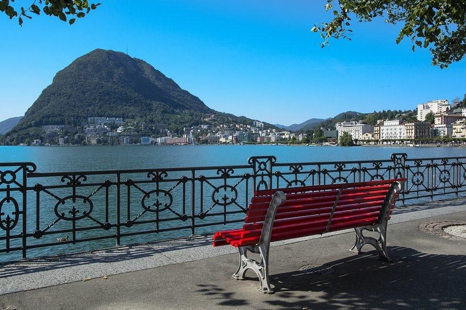 Lugano, vista sul lago